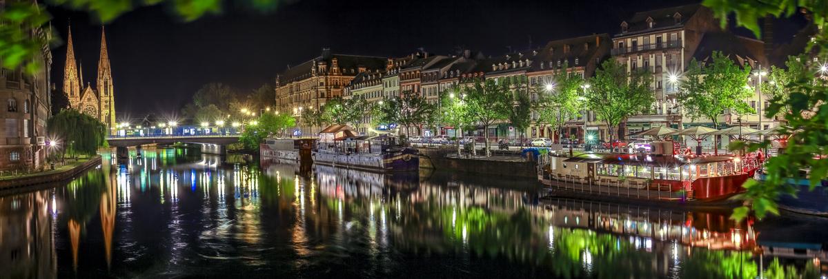 Strasbourg Quai des Pêcheurs - panoramique HDR - tirage 310mm X 860mm pleine feuille ou 200mm X 575mm avec marges - 170€ réf: straspan-007