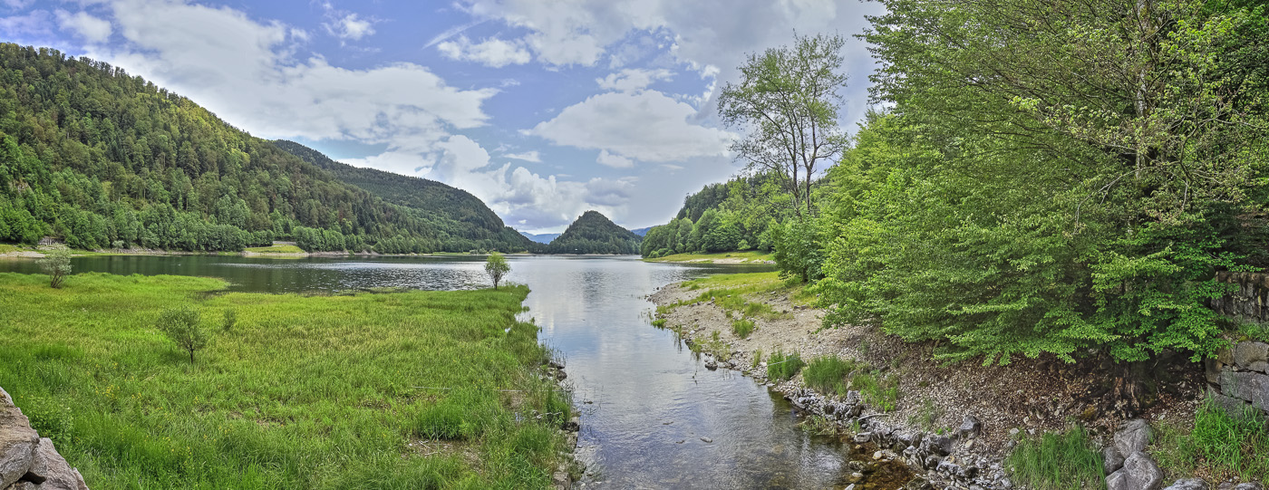 Vosges Lac de Kruth - panoramique HDR - tirage 310mm X 860mm pleine feuille ou 200mm X 575mm avec marges - 110€ réf: payspan-004
