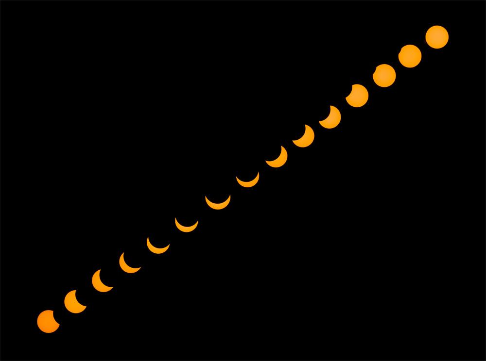 Chapelet de l'éclipse partielle du soleil du 20 mars 2015