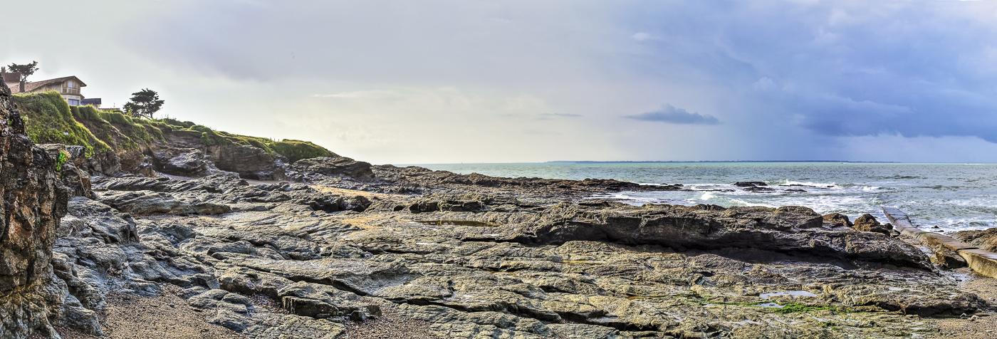 Vendée Préfailles - panoramique HDR - tirage 310mm X 860mm pleine feuille ou 200mm X 575mm avec marges - 110€ réf: payspan-011