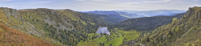 Vosges Lac du Forlet - panoramique HDR - tirage 290mm X 860mm pleine feuille ou 180mm X 575mm avec marges - 110€ réf: payspan-006