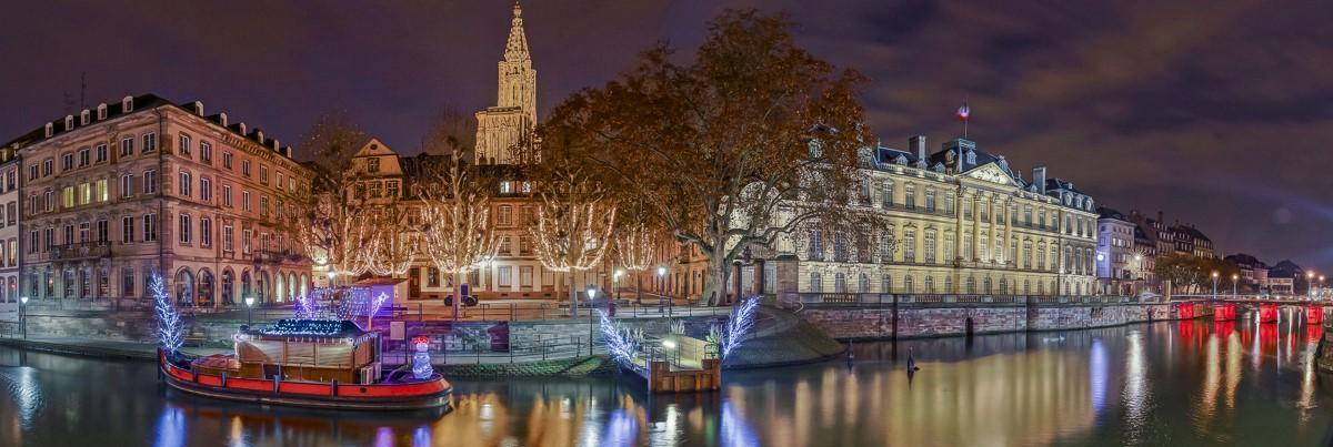 Strasbourg les quais - panoramique HDR - tirage 310mm X 860mm pleine feuille ou 200mm X 575mm avec marges - 130€ réf: straspan-012
