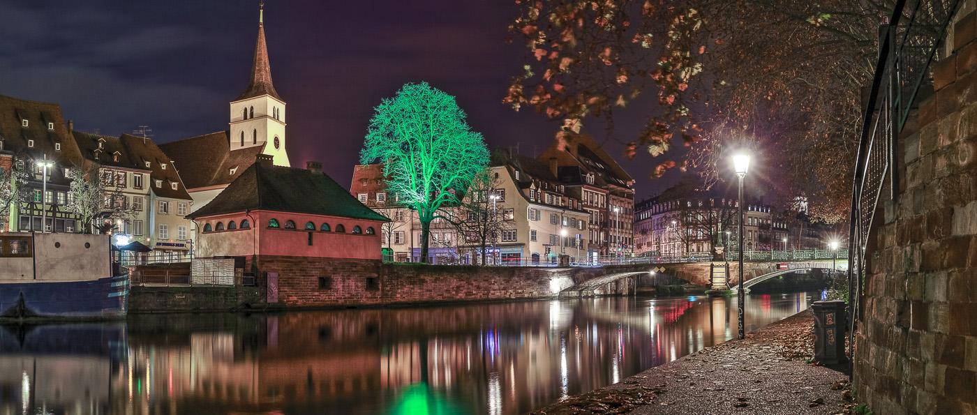 Strasbourg les quais - panoramique HDR - tirage 310mm X 750mm pleine feuille ou 200mm X 480mm avec marges - 130€ réf: straspan-013