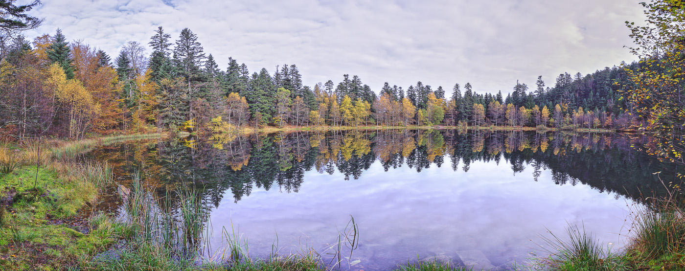 Vosges Lac de la Maix - panoramique HDR - tirage 310mm X 860mm pleine feuille ou 200mm X 575mm avec marges - 110€ réf: payspan-008