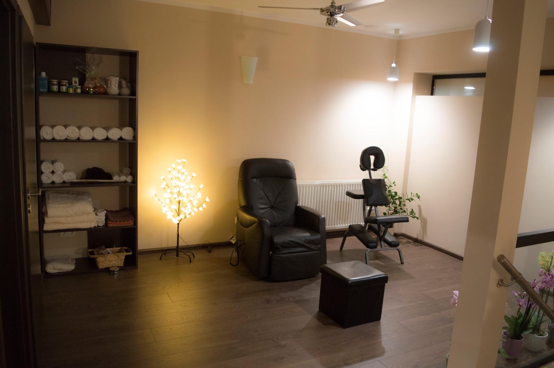 Fußmassage und Massagesessel