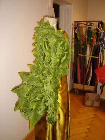 Herstellung grüne Jacke