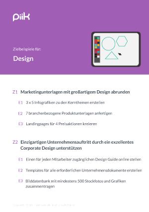 Beispiel für OKR Ziele - Design (piik.com)