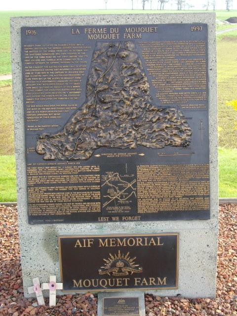Pozières Mouquet Farm Australian Memorial