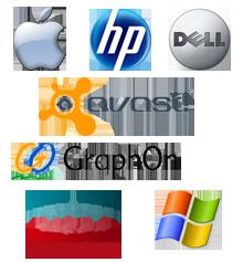 Partenaires Apporatique - HP, DELL, Avast...