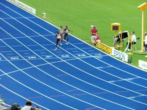 Zieleinlauf 5000m Frauen (Gold Vivian Cheruiyot KEN, Silber Sylvia Jebiwott Kibet KEN,  Bronze Meseret Defar)
