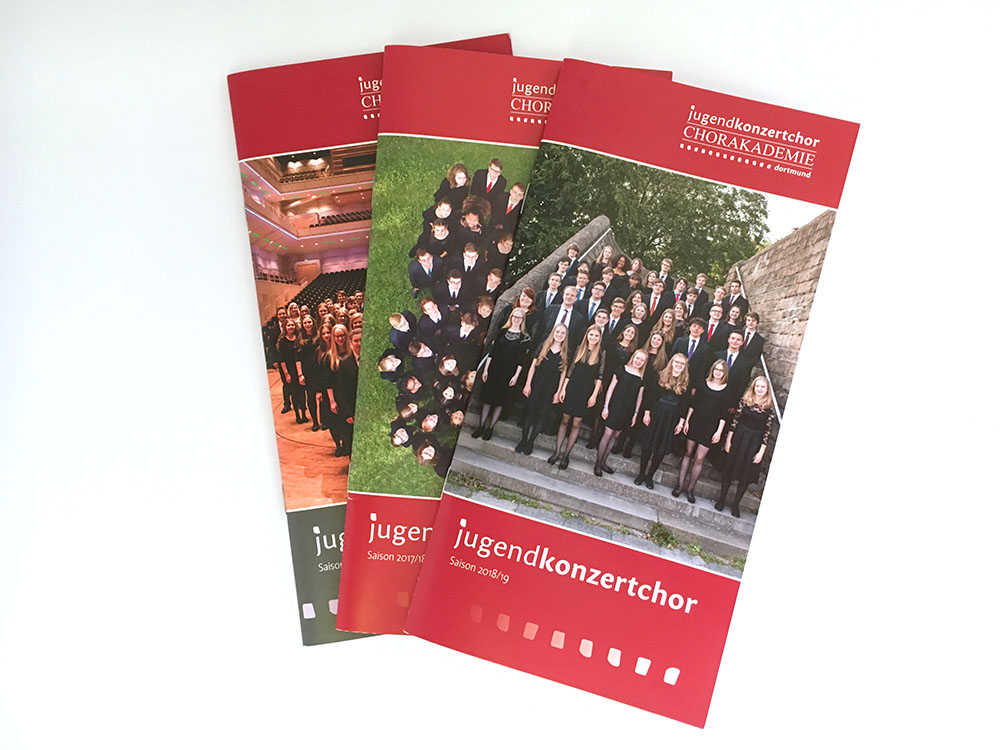 Saisonbroschüren I Jugendkonzertchor der Chorakademie Dortmund