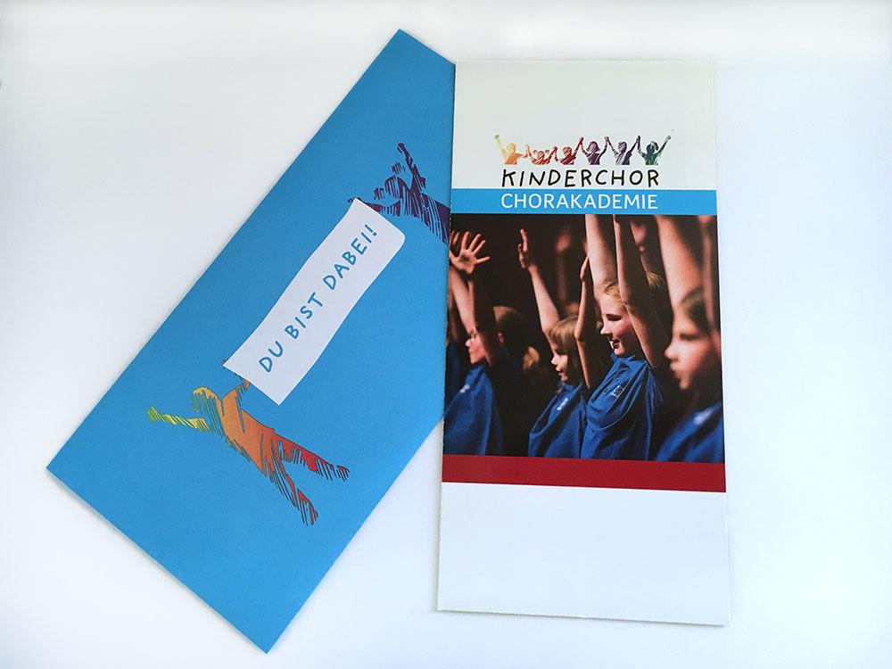 Flyer und Briefumschlag I Kinderchor der Chorakademie Dortmund
