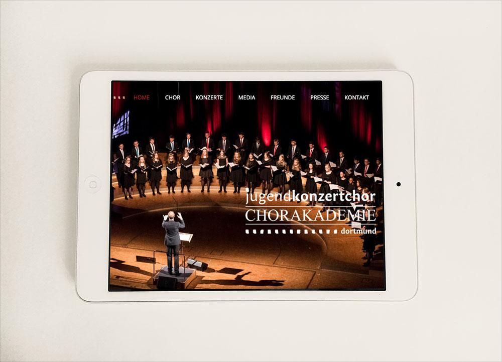 Webdesign I Jugendkonzertchor der Chorakademie Dortmund