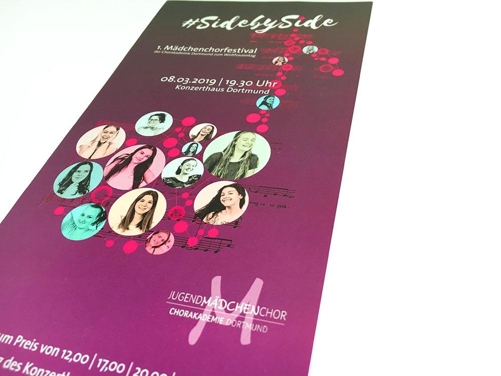 Plakat, Flyer, Logo I Mädchenchor der Chorakademie Dortmund