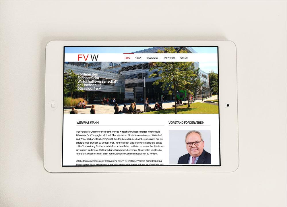 Webdesign I Förderverein der HSD Fachbereich Wirtschaftswissenschaften