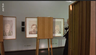 Schaukasten für Kunstausstellung