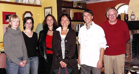 Les partenaires de la labellisation panda, par WWF, lors de la visite de contrôle du gîte.