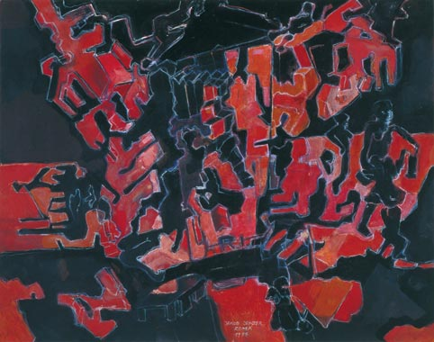 Traumpfad 1995  Kreidestift/Pigment auf Papier 51 x 65 cm