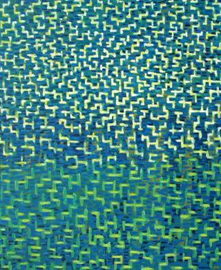 Spiegelung 2007  Acryl-Pigment auf Hartfaserplatte 50 x 60 cm