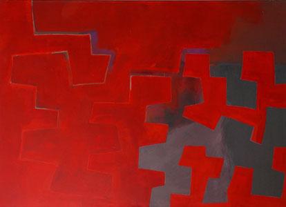 Zwischen Raum und Wirklichkeit  2004  Acryl auf Leinen 130 X 180 cm