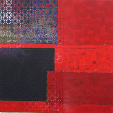 Ansicht 2007  Acryl-Pigment auf Leinen 60 x 60 cm