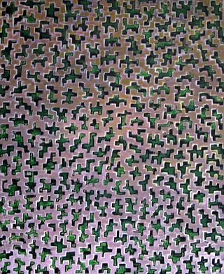 m Grünen, Tokyo 2006  Acryl-Pigment auf Hartfaserplatte 50 x 60 cm