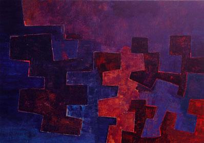 Zwischen Raum und Wirklichkeit 2005  Acryl auf Leinen 110 X 155 cm