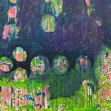 Schatten im Garten 2007  Acryl-Pigment auf Hartfaserplatte 60 x 60 cm