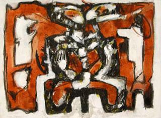 Varanasi 2007  Acryl auf Papier 28 x 38 cm