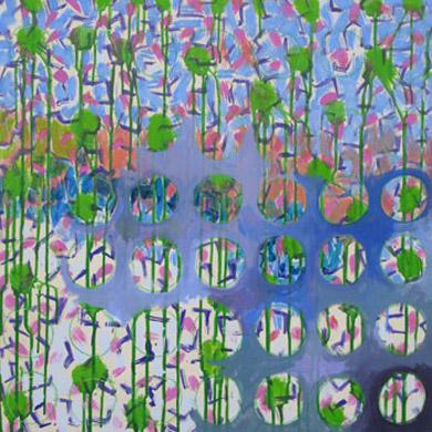 Frühling 2007  Acryl-Pigment auf Hartfaserplatte 60 x 60 cm