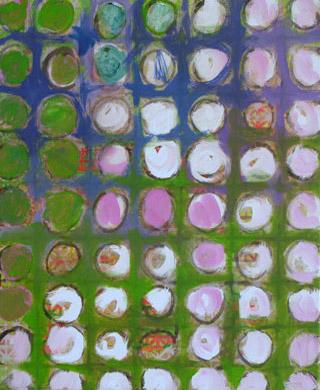 Ordnung im Garten 2007  Acryl-Pigment auf Leinen 50 x 60 cm