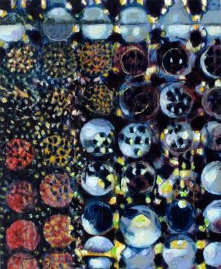 Einblick 2009  Acryl auf Holz 60 x 50 cm