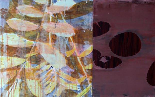 Spiegelung 2009  Acryl auf Hartfaserplatte 60 x 100 cm