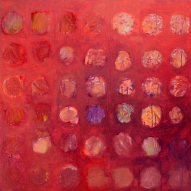 Abenstimmung (Erinnerung an die Vergangenheit) 2007  Acryl-Pigment auf Leinen 60 x 60 cm