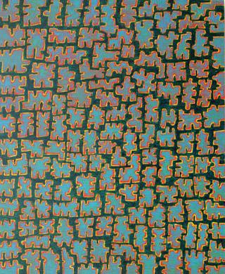 Tokyo 2006  Acryl-Pigment auf Hartfaserplatte 50 x 60 cm