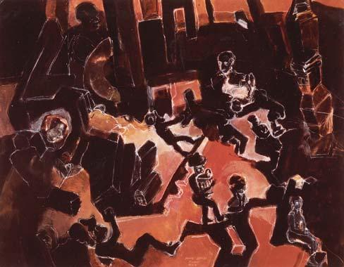 Nachtwandler 1994  Kreidestift/Pigment auf Papier 51 x 65 cm