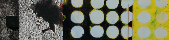 Panorama 2006  Acryl-Pigment- Kohle auf Hartfaserplatte 96 x 23.5 cm