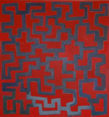 2004  Acryl auf Leinen 190 X 175 cm