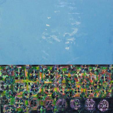 Ufer 2007  Acryl-Pigment auf Hartfaserplatte 60 x 60 cm