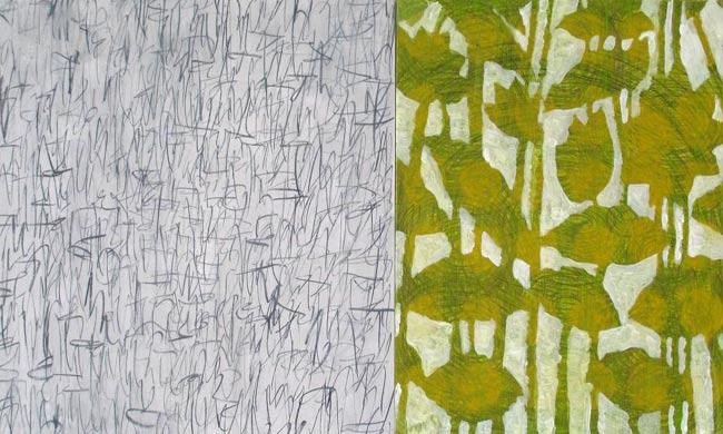 Spiegelung 2009  Acryl und Grafit auf Hartfaserplatte 60 x 110 cm