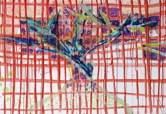 Raster 2009  Acryl auf Hartfaserplatte 58 x 85 cm