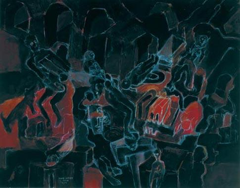 Nachtschatten 1994  Kreidestift/Pigment auf Papier 51 x 65 cm