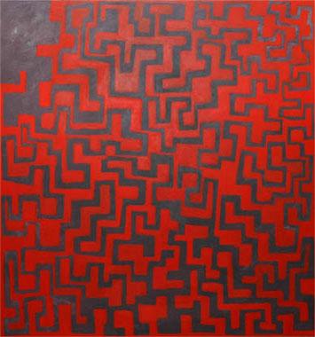 Zwischen Raum und Wirklichkeit  2004  Acryl auf Leinen 190 X 175 cm