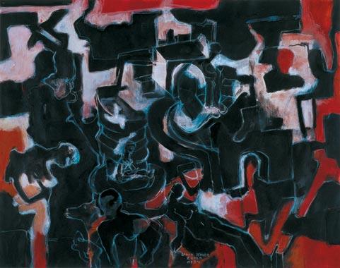 Schatten vergangener Zeiten 1994  Kreidestift/Pigment auf Papier 51 x 65 cm