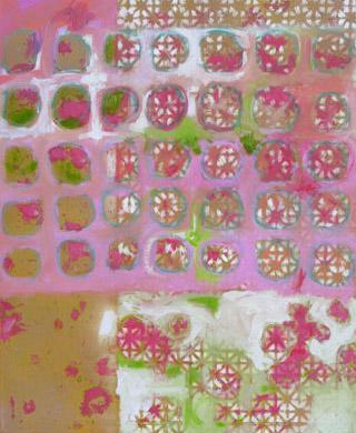 Blumig 2007  Acryl-Pigment auf Leinen 50 x 60 cm