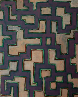 Kanazawa III 2004  Acryl auf Leinen 60 X 50 cm