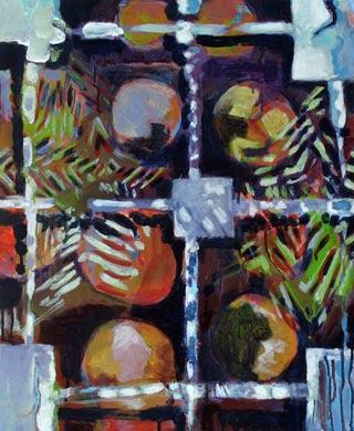 Raster 2009  Acryl auf Holzfaserplatte 60 x 50 cm