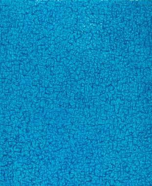 Blauer Tag 2003  Acryl auf Leinwand 60 x 50 cm