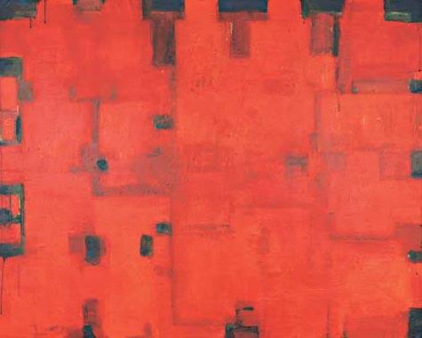 Plan No. 5 2003  Acryl auf Hartfaserplatte 100 x 124 cm