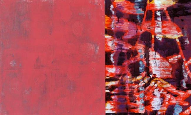 Spiegelung 2009  Acryl auf Hartfaserplatte 60 x 110 cm